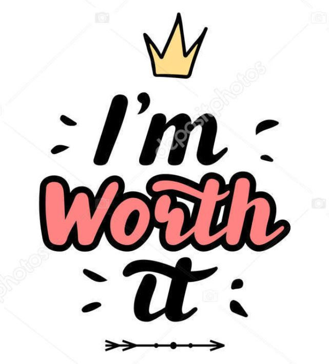 9 i m  worth it with crown n in handwriting style