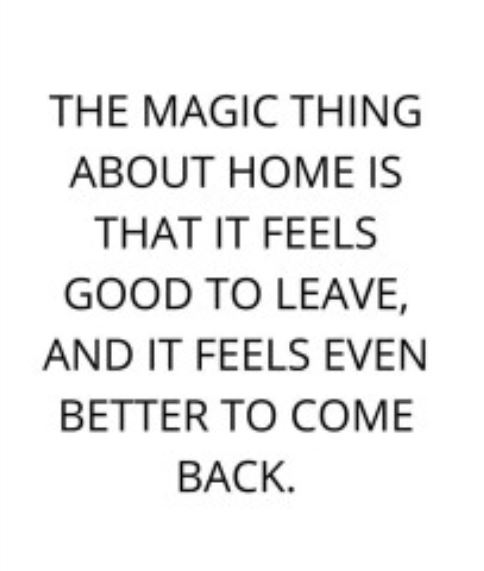 the magic thing about home