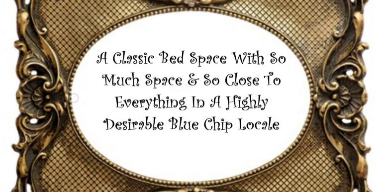 0 Title - A Classic Bed Space With So Much Space & So Close To Everything In A Highly Desirable Blue Chip Locale